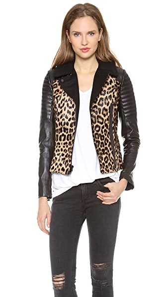 A.L.C. Lee Haircalf Leather Jacket