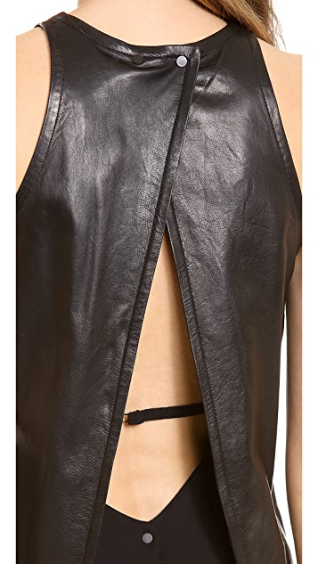 A.L.C. Pharel Leather Top