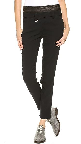 A.L.C. Elliott Leather Combo Pants