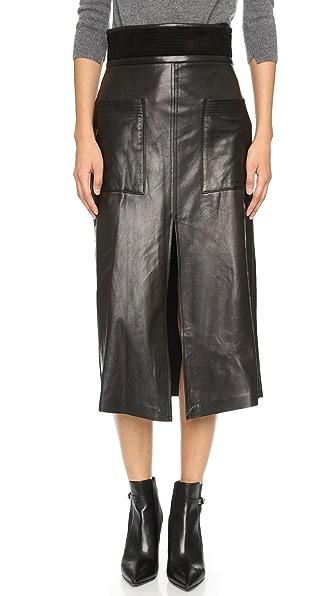 a l c silva leather skirt shopbop