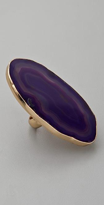 Charles Albert Agate Slice Ring