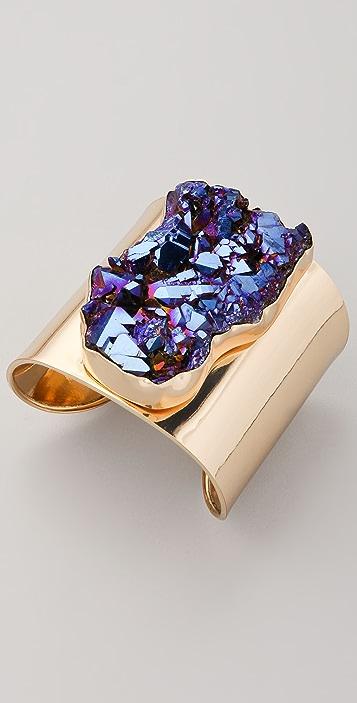 Charles Albert Large Titanium Quartz Cuff