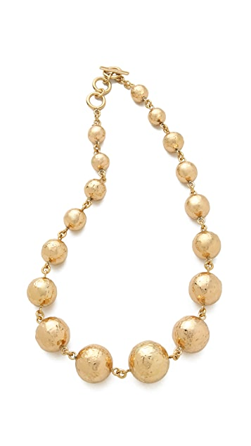 Charles Albert Hammered Bubble Necklace