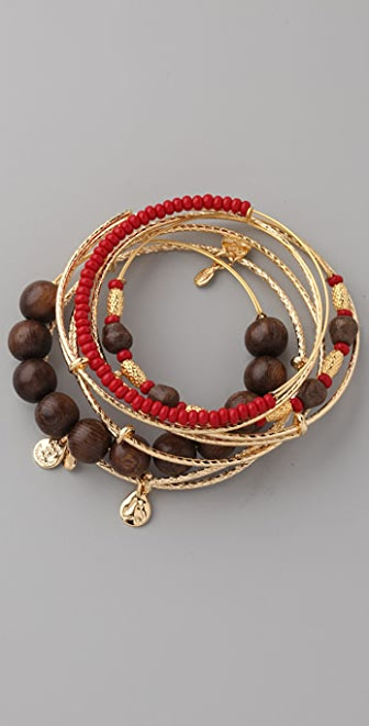 Alex and Ani Maasai Expandable Wire Bangle Set