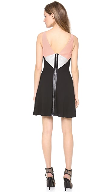 Alex Perry Bonnie Mini Colorblock Dress