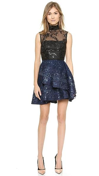 Alex Perry Alessandra Beaded Lace Dress