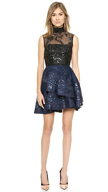 Alex Perry Alessandra Beaded Lace Dress