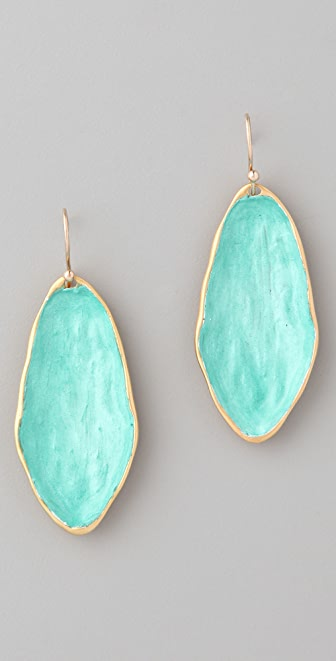 Alexis Bittar Duchamp Spring Green Puddle Earrings