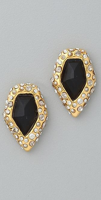 Alexis Bittar Crystal Encrusted Onyx Earrings