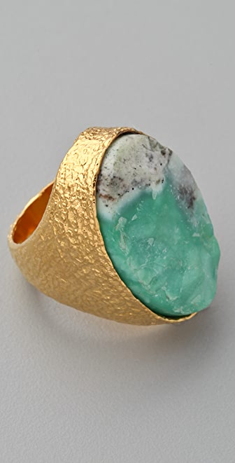 Alexis Bittar Oval Rough Chrysophase Ring