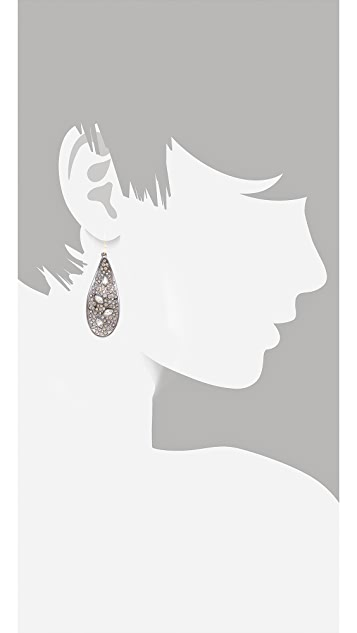 Alexis Bittar Crystal Encrusted Teardrop Earrings