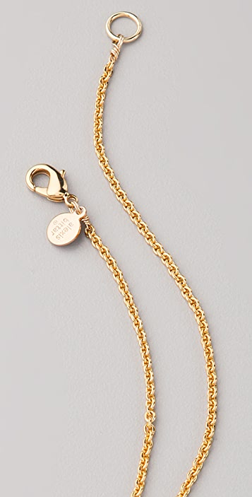 Alexis Bittar Crystal Encrusted Gold Pendant Necklace