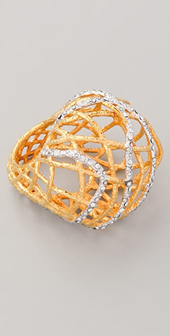 Alexis Bittar Woven Dome Ring