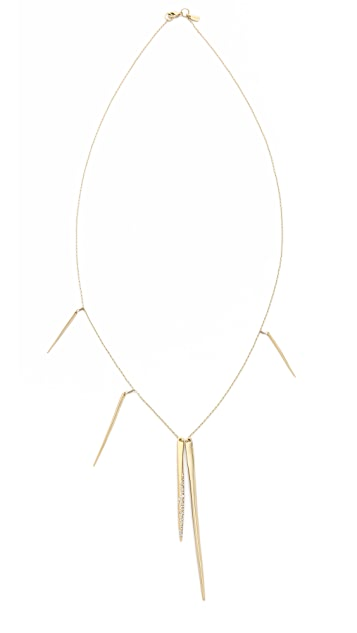 Alexis Bittar Crystal Encrusted Long Spear Necklace