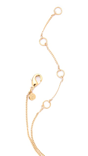 Alexis Bittar Crystal Encrusted Horseshoe Necklace