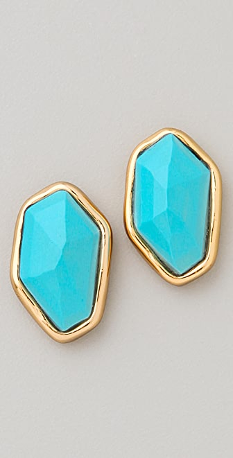 Alexis Bittar Liquid Gold Stud Earrings