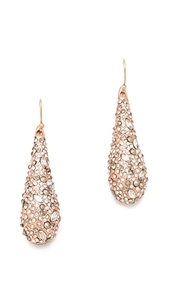 Alexis Bittar Small Crystal Tear Earrings