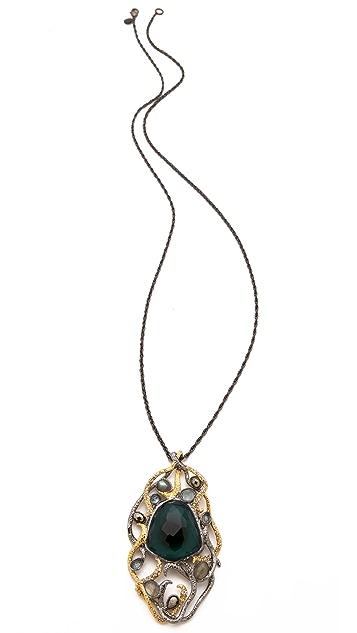 Alexis Bittar Siyabona Cushion Pendant Necklace