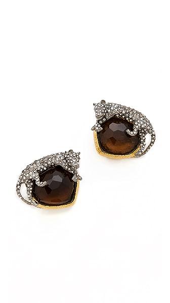 Alexis Bittar Siyabona Panther Clip Earrings