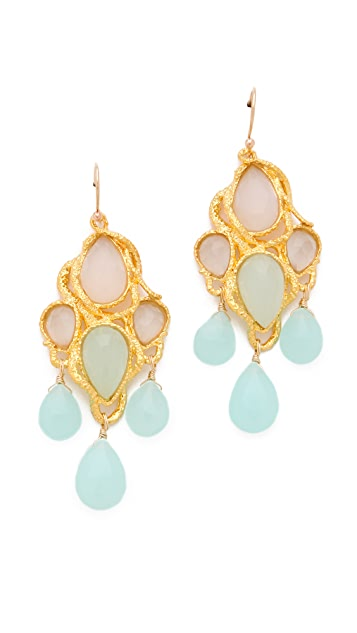 Alexis Bittar Chalcedony Earrings