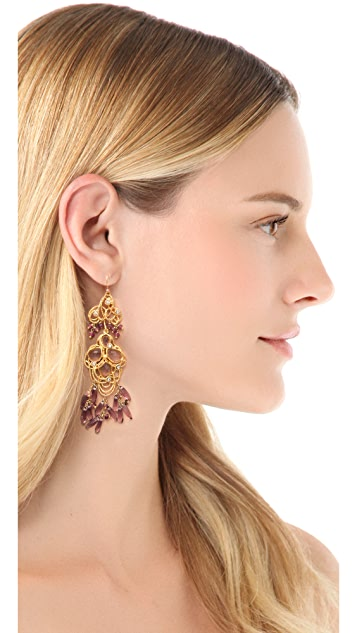 Alexis Bittar Floral Lace Chandelier Earrings