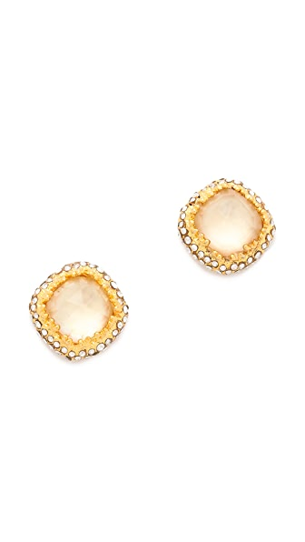 Alexis Bittar Floral Cushion Stud Earrings