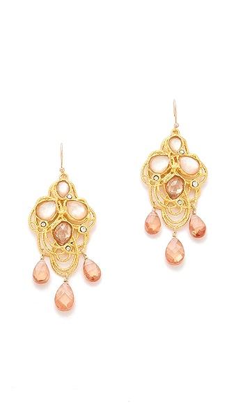 Alexis Bittar Floral Lace Drop Earrings