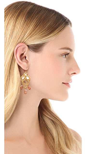 Alexis Bittar Floral Lace Drop Earrings