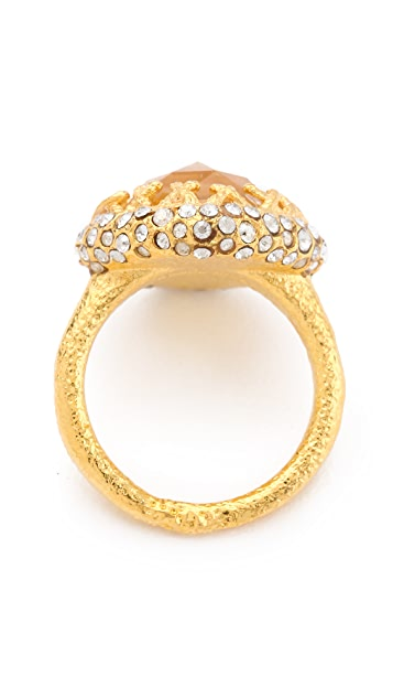 Alexis Bittar Floral Small Cushion Ring
