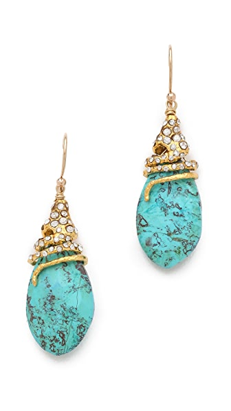Alexis Bittar Cordova Capped Chrysocolla Earrings