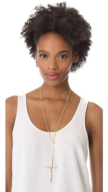 Alexis Bittar New Wave Cross Drop Necklace