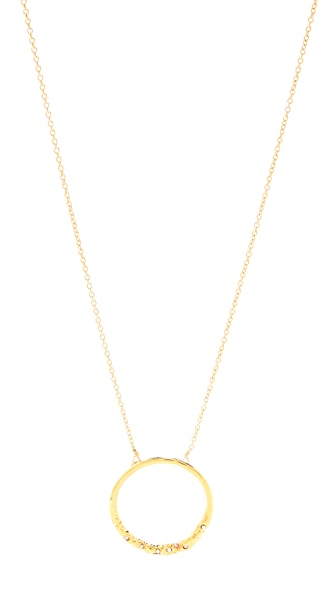 Alexis Bittar New Wave Pave Circle Pendant Necklace