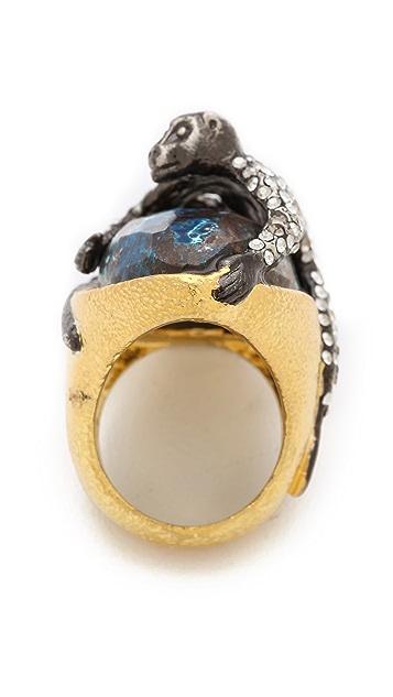 Alexis Bittar Mauritius Chrysocolla Spider Monkey Ring