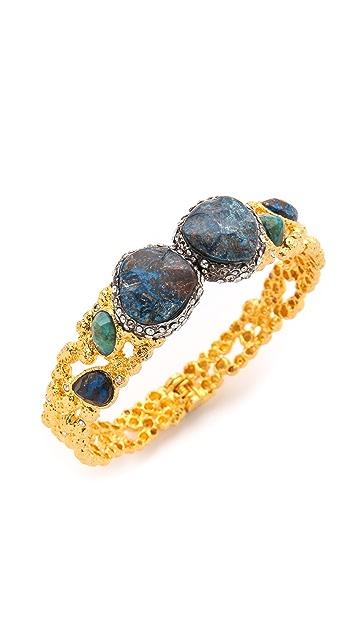 Alexis Bittar Cordova Chrysocolla Encrusted Bracelet