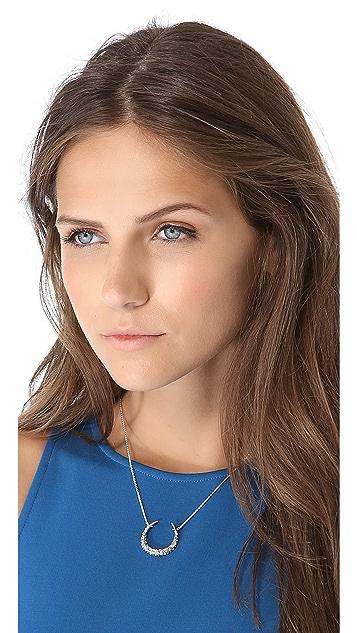Alexis Bittar Crystal Horseshoe Necklace