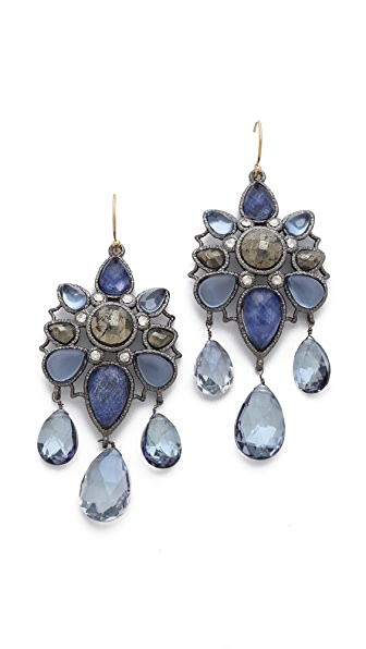 Alexis Bittar Mosaic Wire Quartz Drop Earrings