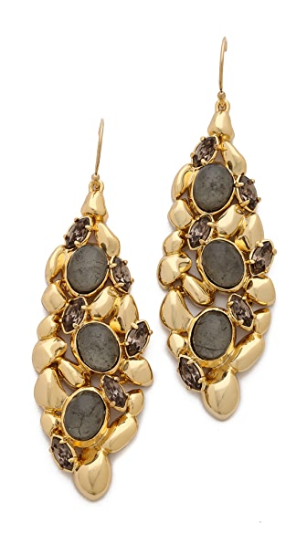 Alexis Bittar Articulating Pyrite Earrings