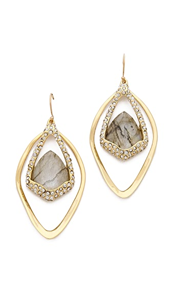 Alexis Bittar Orbiting Suspended Labradorite Earrings