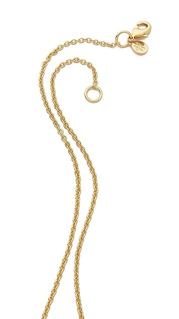 Alexis Bittar Articulating Pyrite Pendant Necklace