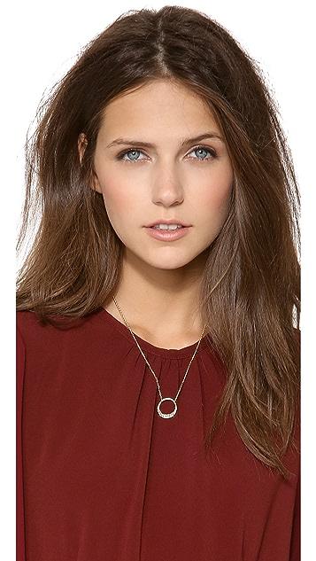 Alexis Bittar Small Aura Pave Pendant Necklace
