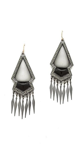 Alexis Bittar Sante Fe Deco Fringed Arrow Earrings