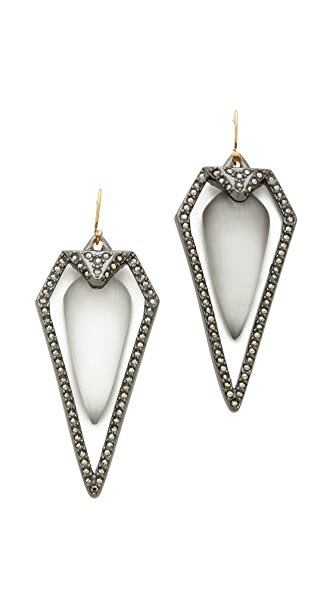 Alexis Bittar Santa Fe Deco Arrowhead Earrings