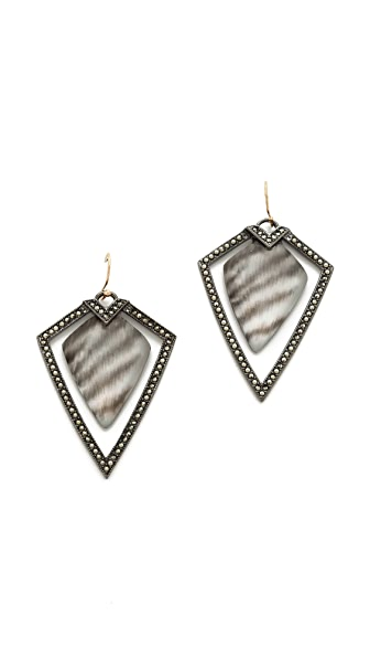 Alexis Bittar Santa Fe Deco Frame Earrings