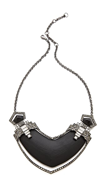 Alexis Bittar Santa Fe Deco Jewel Bib Necklace