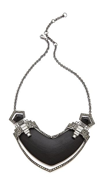 Alexis Bittar Santa Fe Deco Jewel Bib Necklace