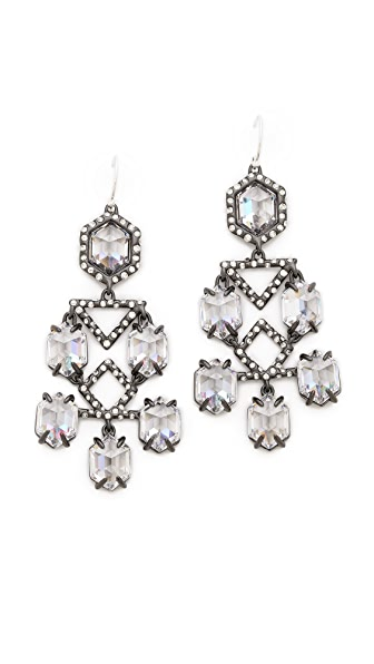 Alexis Bittar Pavo Chandelier Crystal Earrings
