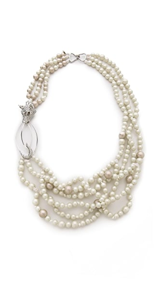 Alexis Bittar Long Wolf 3 Strand Necklace