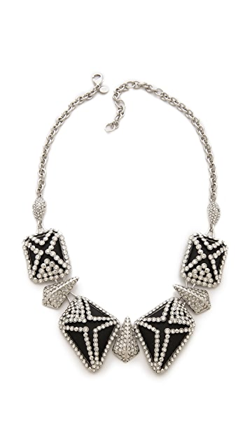 Alexis Bittar Crystal Lattice Caged Bib Necklace