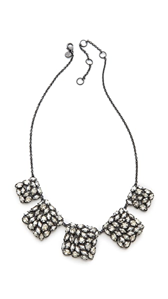 Alexis Bittar Pavo Linked Bib Necklace