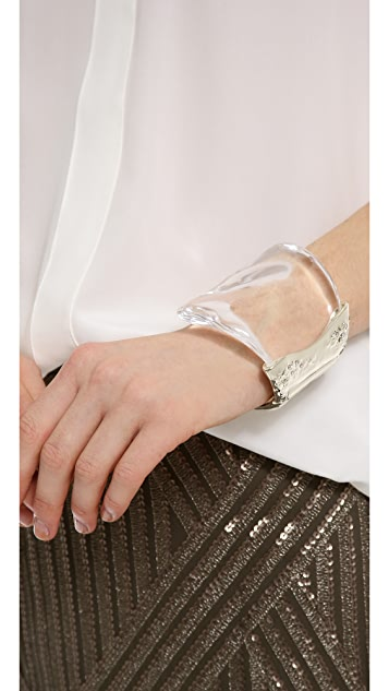 Alexis Bittar Antibes Textured Wave Bracelet